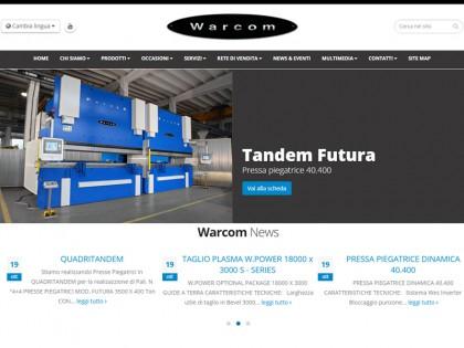 sito web warcom catalogo presse piegatrici e macchine da taglio lamiera
