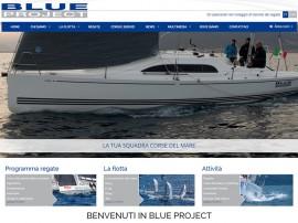 sito web Blue Project Sailing - Noleggio barche da regata ed eventi