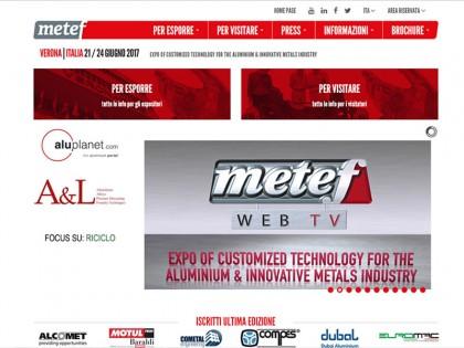 sito web fiera espositiva metef