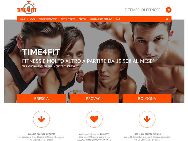 sito web palestra time4fit